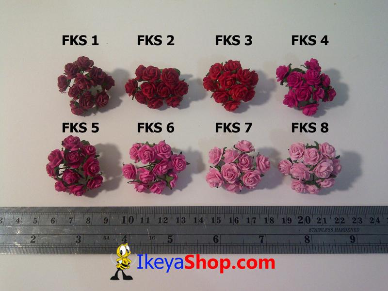 Bunga Mawar Kertas Kecil 1 8 Fks 1 8 Ikeyashop Com