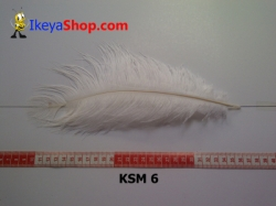 bulu kasuari medium KSM 6   feather  large